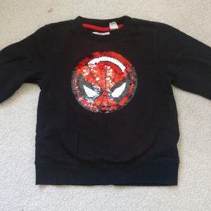 H&M Spider-Man/Capt America sweatshirt SZ 4-5